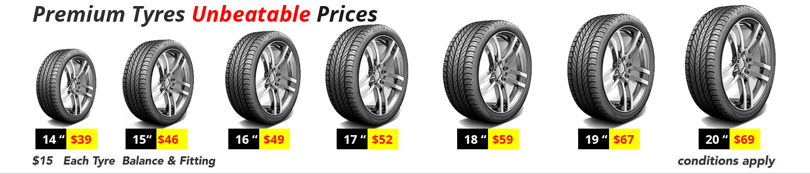 Car tyres for sale melbourne