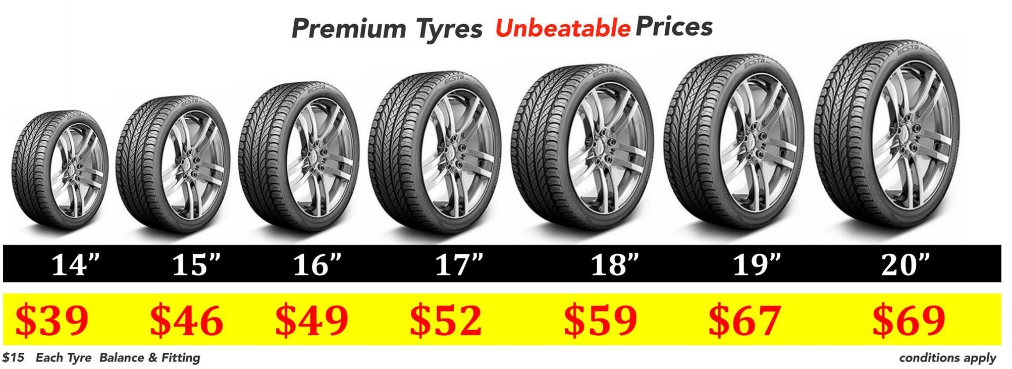 Premium Tyres lowest prices