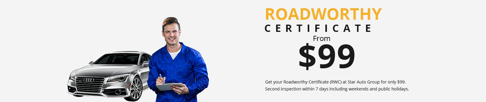 Roadworthy Certificates Melbourne Victoria - Cheap RWC Starting from $99